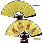 Chinese Japanese Folding Silk Hand Flower Bamboo Asian Pocket Fan Decoration New