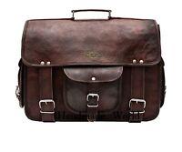 Brown Leather Crossbody Bag Mens Leather Satchel Leather Mens Messenger Bag