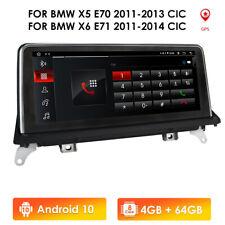 For BMW X5 X6 E70 E71 2010-13 CIC Navigation Car Multimedia GPS Radio Dash 4+64G