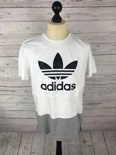 Adidas Firebird T-shirt-Tamaño Grande-Blanco-Excelente Estado
