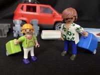 Playmobil 5436 Family w/ Red Van, Luggage, Seats, Roof Rack & Figures