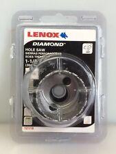 "Lenox Tools 12118 1-1/2"" (38mm) Diamond Grit Hole Saw, NEW"