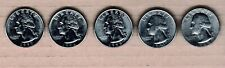 USA 25c Quarters five different