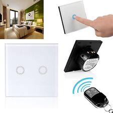 1/2 Gang-Licht Touch-Screen-Switch Smart-Kristallglas-Verkleidung UK EU Art