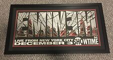 EMINEM Signed Rare poster LIVE IN NEW YORK showtime 2005 Shady JSA Z07266 Auto