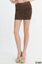 Animal Print Leopard Skirt in Taupe One Size Fits Most