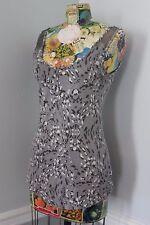 JESSICA SIMPSON Gray Animal Print Scoop Neck Sleeveless Casual Top Size Medium M
