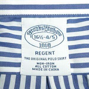 16 1/2 - 34/35 Brooks Brothers 'REGENT' Non-Iron Blue & White Stripe Dress Shirt