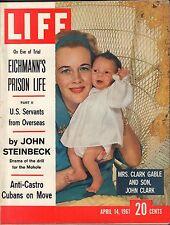Life Magazine April 14 1961 Birthday Mrs. Clark Gable VG 050216DBE