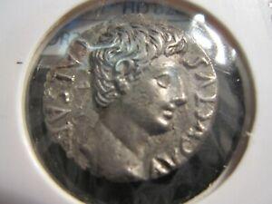 Monnaie Romaine denier Empereur Auguste colonia patricia