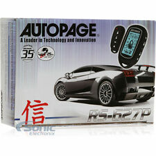 AUTOPAGE RS-627P REMOTE START WITH 4-BUTTON LCD REMOTE  2-WAY KEYLESS ENTRY