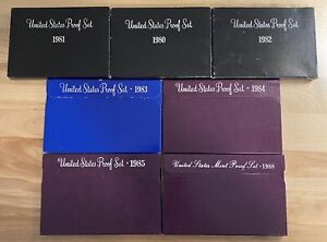 (1) 1980-1989 US Proof Set Estate Sale Lot With Boxes COA US Coins Proof Sets