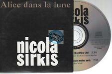 Indochine Alice Dans La Lune CD PROMO Nicola Sirkis