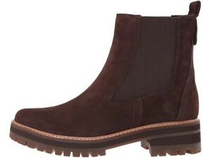 Timberland Womens Courmayeur Valley Brown Chelsea Boots Size 9