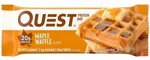 Quest Nutrition Maple Waffle Protein Bar, High Protein, Low Carb, Gluten