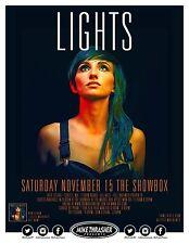 LIGHTS 2014 SEATTLE CONCERT TOUR POSTER - Valerie Poxleitner, Electropop Music