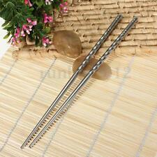 1Pair Chinese Stylish Non-slip Design Chop Sticks Stainless Steel Chopsticks