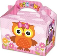 10 Cute Owl Boxes - Toy Loot/Party Bag Lunch Wedding/Kids Food Meal Bird Animal
