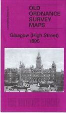 OLD ORDNANCE SURVEY MAP GLASGOW HIGH STREET 1895