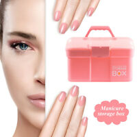 Portable Nail Art Storage Box Case Multi-Function Manicure Tools Pen Organizer