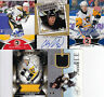 A LOT OF (5) UPPER DECK PITTSBURGH PENGUINS AUTO & GAME USED JERSEY ROOKIE CARDS