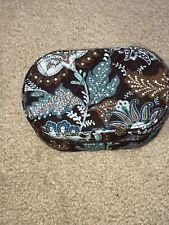 NWOT Vera Bradley Oval Travel Jewelry Box Case Retired Java Blue  Pattern - HTF
