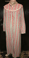 LANZ of SALZBURG~Women's long flannel GOWN PAJAMAS nightgown tyrolean~X-Large XL