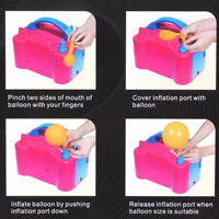 Pop  Electric Balloon Inflator Pump Two Nozzle High Power Air Blower Portable