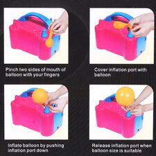 High Power Two Dual Nozzles Air Blower Electric Balloon Inflator Pump nb