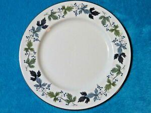 Royal Doulton Burgundy Salad/Breakfast/Luncheon Plate (T.C.1001) VGC Free UK P&P
