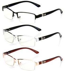 Half Rim Rectangular Fashion Clear Lens Frame Eye Glasses Men Women Designer RX