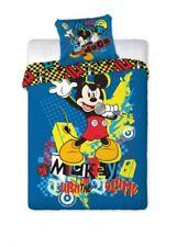 Set Bettwäsche Disney Mickey Maus 100% Baumwolle 160 x 200 cm / 70 x 80 cm Neu