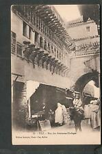 unmailed post card Morocco Fez Rue des Anciennes-Horloges/people shopping