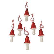 Weihnachtsbaumschmuck Fliegenpilz 6er Set