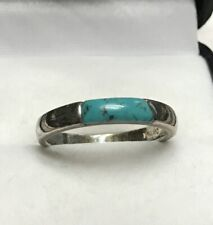 ~ S&G Vintage Design Sterling Silver Ring With Turquoise Stone~