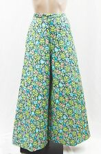 Vtg Lanz 60's 70's Psychadelic Boho Hippie Floral Quilted Wide Leg Gaucho Pants