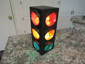 """12""""▪Electric TRAFFIC Signal DESK WALL LAMP ▪3 Color Red-Yellow-Green▪Stop LIGHT"""