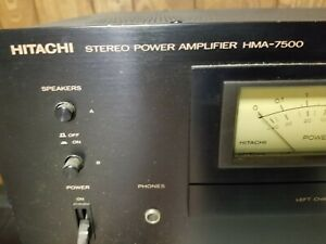HITACHI  HMA-7500 STEREO POWER AMPLIFIER WORKS GREAT?