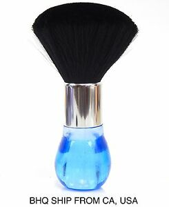 Neck Duster Brush for Salon Stylist Barber Hair Cutting Make Up, Body - Blue
