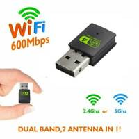 Wireless Lan USB PC WiFi Adapter Network 802.11AC 600Mbps Dual Band 2.4G/5G UK