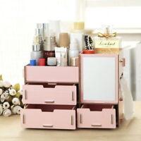 Wood Cosmetic Organizer Makeup Jewellery Drawers Box Storage Display DIY  Best