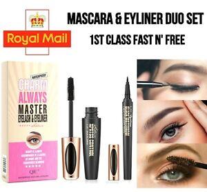 Mascara 4D Silk Fibre Volume & Eyeliner Waterproof Eyelash Extension Lasting UK