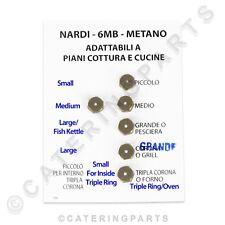 Set da 6 x Nardi NG NAT BRUCIATORE A GAS Iniettore JET KIT FILETTATURA M6 X 0.75