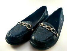 VIONIC Charm Alda BLACK Lizard Pattern Loafers Flats Shoes Size 10 US