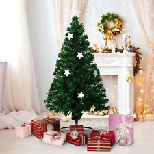 HOMCOM Weihnachtsbaum Tannenbaum Baum mit 140 LEDs Stern Grün