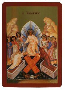 RESURRECTION (CHRIST'S DESCENT INTO HELL)-Greek Byzantine Orthodox Icon