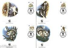 Estonia 1994 WWF Flying Squirrel Rodent Wildlife Animal Sc 270-73 Set of 4 FDCs