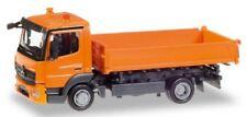 MB Atego '13 camion tri-benne orange - Herpa - Echelle 1/87 (Ho)