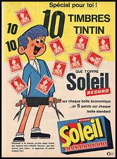 PUB / PUBLICITE TINTIN  1972 -  HERGE  Soleil