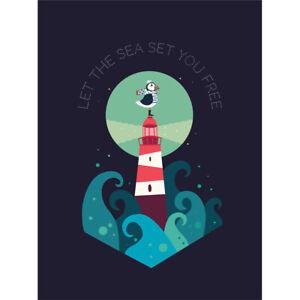 Lighthouse Sea Free Canvas Wall Art Print